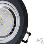Spot LED encastrable en verre/miroir/noir CRISTAL rond avec 6 ampoules LED 4 W 230 V IP20 Blanc froid de la marque JVS image 1 produit