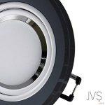 Spot LED encastrable en verre/miroir/rond cristal noir + 1x 7W blanc froid 230V IP20Plafonnier à LED Spot LED encastrable Spot encastrable Couverture encastrable Spot à encastrer au plafond, Lot de 10, GU10 7.00 W 230.00 voltsV de la marque JVS-Licht image 1 produit