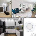 Spot LED encastrable orientable Decoro rond (Blanc) avec LED x 7W blanc chaud 230V IP20Spot de plafond encastrable Spot encastrable Couverture encastrable Spot à encastrer au plafond rotatif, 5er Set, GU10 7.00 230.00 volts de la marque JVS-Licht image 4 produit