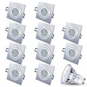 Spot LED encastrable orientable DIMM Bar Star rectangulaire Chromé mat/argenté + 1x 5W LED Philips Blanc chaud 230V IP20Plafonnier Spot plafonnier spot plafond encastrable carrée Moderne Lot de 10 de la marque JVS image 0 produit