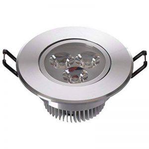 Spot LED encastrable rond inclinable réglable de style moderne en métal couleur chrome, pour cuisine ou couloir, 3 ampoules incl. 3 x 1W LED 230V de la marque MW-Light image 0 produit