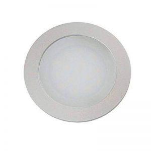 Spot LED encastrable vbled® Extra Plat (12mm Profondeur de Montage) en aluminium anodisé Mat Blanc chaud 0,9W 12V IP67pour mur, sol et plafond Rond de la marque VBLED image 0 produit