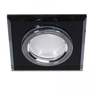 Spot LED encastrable Verre Noir 4voies Intensité variable–Encastrable Avec faible profondeur de montage–Spots avec ampoule LED 5,5W de la marque LHG image 0 produit