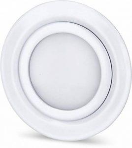 Spot LED fin en métal IP44 12 V 4 W 330 lm – Convient pour meuble encastré – Ø 60 mm – Blanc brillant Moderne Warmweiß (3000 K) de la marque HAVA image 0 produit