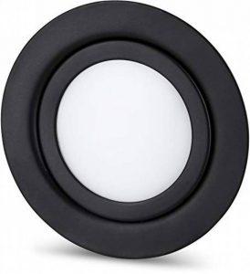 Spot LED fin en métal IP44 12 V noir mat – Convient pour montage encastré Ø 60 mm – Blanc chaud (3000 K) de la marque HAVA image 0 produit