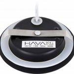 Spot LED fin en métal IP44 12 V noir mat – Convient pour montage encastré Ø 60 mm – Blanc chaud (3000 K) de la marque HAVA image 1 produit