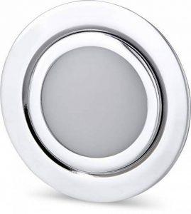 Spot LED fin encastrable en métal IP44 12 V chromé brillant – Convient pour montage encastré Ø 60 mm – Blanc chaud (3000 K) de la marque HAVA image 0 produit
