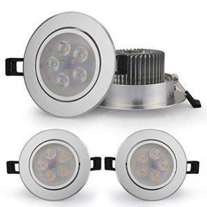 Spot LED Orientable Auralum® Lot de 8 Spots Encastrable led Plafonnier 5W Lumière Blanc Froid (6000-6500K) Lampe Ronde pour Salon Chambre de la marque AuraLum image 0 produit