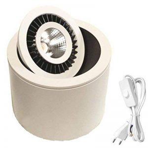 Spot LED à poser sur console ou meuble - Lampe orientable éclairage tableau LUKE CREE 7W IRC80 blanc chaud 3000K 15° 100-240V. Blanc - LEDart de la marque LEDart image 0 produit