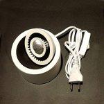 Spot LED à poser sur console ou meuble - Lampe orientable éclairage tableau LUKE CREE 7W IRC80 blanc chaud 3000K 15° 100-240V. Blanc - LEDart de la marque LEDart image 1 produit