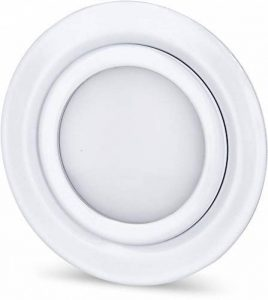 Spot LED Slim encastrable en métal massif IP44 12 V blanc brillant – Convient pour montage encastré Ø 60 mm – Blanc chaud (3000 K) de la marque HAVA image 0 produit
