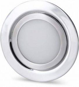 Spot LED Slim encastrable en métal massif IP44 12 V – Convient pour montage encastré Ø 60 mm – Acier brossé Moderne Tagesweiß (4000 K) de la marque HAVA image 0 produit