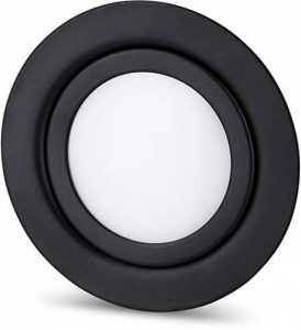 Spot LED Slim encastrable en métal plein IP44 12 V Noir mat – Convient pour montage encastré Ø 60 mm – Blanc tages(4000 K) de la marque HAVA image 0 produit