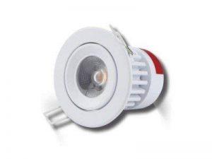 Spot LG encastrable 9,5w orientable-collerette blanche-3000K lumière blanc chaud (lumière jaune) de la marque LG image 0 produit