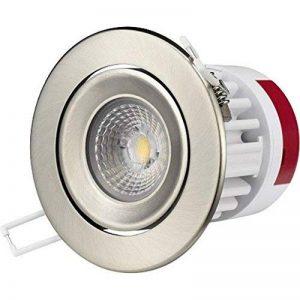 Spot LG encastrable-collerette inox 9,5w orientable 3000K lumière blanc chaud (lumière jaune) de la marque LG image 0 produit