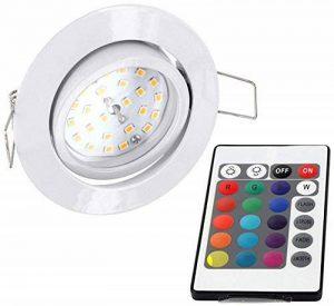 Spot plat encastrable et orientable à LED RVB 230V Avec télécommande, changement de couleur et 3niveaux d'intensité variable Moderne Weiß de la marque HAVA image 0 produit