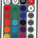 Spot plat encastrable et orientable à LED RVB 230V Avec télécommande, changement de couleur et 3niveaux d'intensité variable Moderne Weiß de la marque HAVA image 4 produit