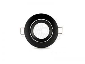 Spot Support orientable noir à encastrer + Douille GU10d.83mm de la marque JOLIGHT image 0 produit