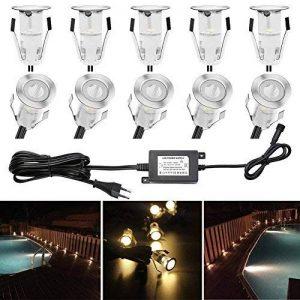 Spots à Encastrer Mini Encastrables LED pour Terrasse DC 12V Etanche IP67 Escalier pour Eclairage Extérieur, L'escalier, Patio, Piscine, Paysage (Pack 10, Blanc Chaud) QACA de la marque QACA image 0 produit