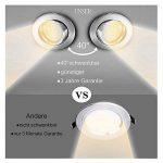 Spots LED Encastré, Gr4tec Lampe Intégrée de Plafond Rond 3.5W Blanc Chaud 2800K 400Lm Transfo Fourni Ultra plat Alliage de Titane Nickel Mat Orientable de 40°Trou 75mm 2.95in IP20 Remplacer à 35W de la marque Gr4tec image 4 produit