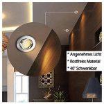 Spots LED Encastré, Gr4tec Lampe Intégrée de Plafond Rond 3.5W Blanc Chaud 2800K 400Lm Transfo Fourni Ultra plat Alliage de Titane Nickel Mat Orientable de 40°Trou 75mm 2.95in IP20 Remplacer à 35W de la marque Gr4tec image 1 produit