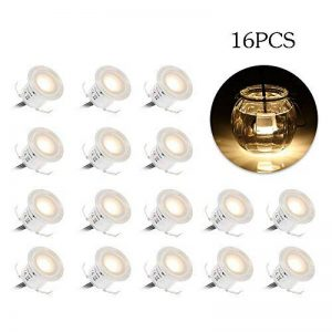Spots LED Encastrables, Tomshine 16PCS Spots LED pour Terrasse, 0.6W Etanche IP67, Spot LED Lampe Extérieur, pour Chemin Contremarches d'escalier Piscine (Blanche chaude) de la marque Tomshine image 0 produit