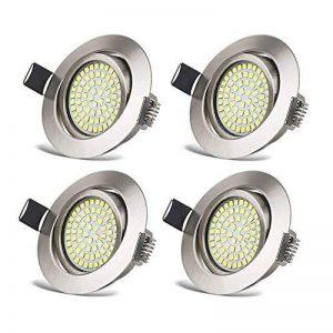 Spots LED Interieur Plafonnier Encastrable Orientable Rond 3.5W Ultraslim Blanc Froid 6000K 400LM 230V IP20 pour Plafond de Chambre, Cuisine, Salon, Couloir (Lot de 4) de la marque HYDONG image 0 produit