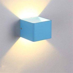 Stazsx Stazsx Postmodern applique murale allée lampe de chevet chambre Nordic creative corridor enfants coloré LED petite applique murale,Bleu ciel 7W lumière blanche de la marque STAZSX LIGHT image 0 produit