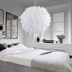 STOEX Lustre Suspension en Plumes 30 cm E27 40W Blanc de la marque STOEX image 0 produit