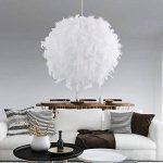 STOEX Lustre Suspension en Plumes 30 cm E27 40W Blanc de la marque STOEX image 1 produit
