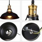 STOEX Lustre Suspension Industrielle Vintage E27 Lampe Plafonniers Retro Abat-jour pour Cuisine Salle à manger Salon Chambre Restaurant de la marque STOEX image 4 produit