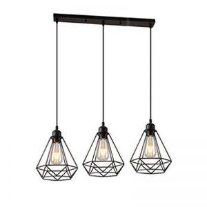 STOEX Lustre Suspension Luminaire Industrielle Géométrie Nid Style, Lampe de Plafond Vintage Abat-Jour pour Restaurant Bar Café de la marque STOEX image 0 produit
