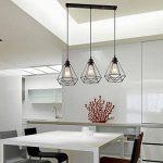 STOEX Lustre Suspension Luminaire Industrielle Géométrie Nid Style, Lampe de Plafond Vintage Abat-Jour pour Restaurant Bar Café de la marque STOEX image 2 produit