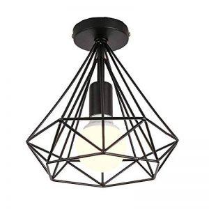 STOEX Plafonnier industrielle Retro 25cm en forme Diamant Suspension Luminaire pour Salle à Manger,Bar,Chambre (Noir) de la marque STOEX image 0 produit