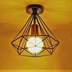STOEX Plafonnier industrielle Retro 25cm en forme Diamant Suspension Luminaire pour Salle à Manger,Bar,Chambre (Noir) de la marque STOEX image 2 produit