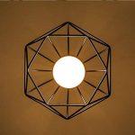 STOEX Plafonnier industrielle Retro 25cm en forme Diamant Suspension Luminaire pour Salle à Manger,Bar,Chambre (Noir) de la marque STOEX image 3 produit