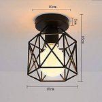 STOEX Plafonnier Industrielle Retro en Métal Cube Fer Noir, Suspension luminaire pour Salon Chambre Café Bar Restaurent Salle à Manger (A) de la marque STOEX image 3 produit