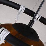 Style américain Vintage Creative Basketball Pendentif Lampe Restaurant Bar Sport Thème Parc Gymnase Art Déco Rétro Verre Lustre DIY Tresse Basketball Net Plafond Lumière E27 de la marque Lizichun image 4 produit