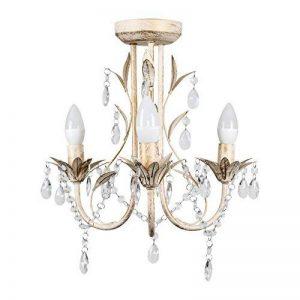 Style traditionnel Lustre 3 branches. En détresse blanc shabby-chic Plafonnier, Chandelier de la marque MiniSun image 0 produit