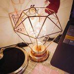 SUAVER Lampe de Chevet, Aspect Rétro Lampe de Table à ampoule- Cage Géométrique Métal Lampe de bureau, Alimentée Par Piles,pour Bureau Chambre Salon Hotêl Café (Or rose) de la marque SUAVER image 4 produit