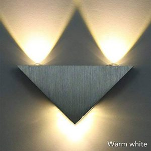 Sunix® Applique de triangle, Applique murale LED blanc chaud lampe hall Couloir KTV, lumières décoratives LED de la marque Sunix image 0 produit