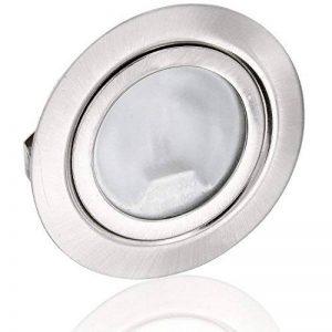 Superslim Spot encastrable G4 12 V – Métal brossé – Convient dans une boîte de 60 – Avec couvercle en verre mat – Diamètre d'encastrement : 60 mm – Profondeur : 21 mm de la marque HAVA image 0 produit