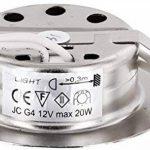 Superslim Spot encastrable G4 12 V – Métal brossé – Convient dans une boîte de 60 – Avec couvercle en verre mat – Diamètre d'encastrement : 60 mm – Profondeur : 21 mm de la marque HAVA image 2 produit