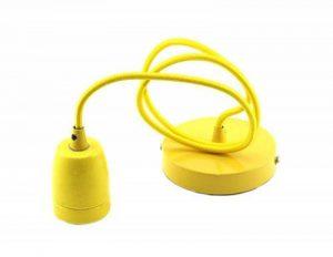 Support de lampe en céramique Suspension avec câble ajustable de 1m pour culot E27 blanc de la marque TECNOLUXEURO image 0 produit