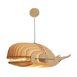 SUSIDUN Abat-jour Plafonnier Suspension Lustre Bois Baleine Forme Wired High Reglable e27 LED DIY Puzzle Design pour Salon Chambre Salle à manger Cuisine(Grande) de la marque SUSIDUN image 0 produit