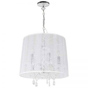 Suspension chandelier baroque blanc à pampilles de la marque Clear Seat image 0 produit