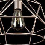 Suspension Design, 3 Lampe, Style Moderne, Loft, Armature en Métal couleur beige, plafonniers geometriques en Métal couleur beige, pour la Cuisine, le Salon, le Séjour, bureau, sale a manger, 3 ampoules, excl. 3 E14 40W 220V de la marque MAYTONI DECORATIV image 3 produit