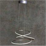 Suspension LED Intensité variable | Blanc chaud | Ø 53cm–hauteur réglable–Anneaux | Suspension cuisine | Salon | | Plafonnier | Chambre | Lampe design moderne de la marque DL-designerlampen image 2 produit