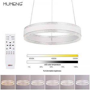 Suspension LED Lustre Moderne Plafonnier - Chambre Lampe Suspendus Luminaire, 3000K-6000K Télécommande Dimmable, 36W, AC220V (Remote control) de la marque MUMENG image 0 produit