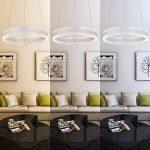 Suspension LED Lustre Moderne Plafonnier - Chambre Lampe Suspendus Luminaire, 3000K-6000K Télécommande Dimmable, 36W, AC220V (Remote control) de la marque MUMENG image 1 produit
